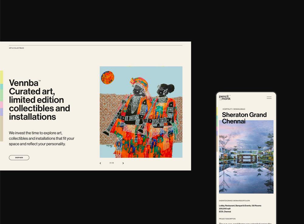 Pencil & Monk Website